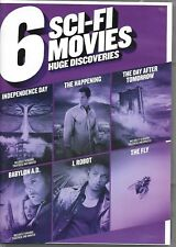 6 Disc SCI-FI MOVIE SET (DVD) The Fly-ID4-Happening-Day After Tomorrow- I, Robot
