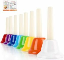Handbells, Hand Bells Set 8 Note Musical Bells with Colorful Songbook for kids