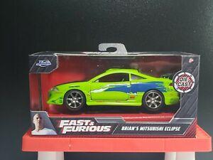 Jada Toys Fast & Furious Brian's Mitsubishi Eclipse Die-Cast NEW 2021 HTF 1:32