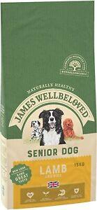 James Wellbeloved Complete Dry Senior Dog Food Lamb and Rice - 15 kg