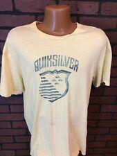 Quicksilver Mens Large L Yellow T Shirt Short Sleeve B6-15