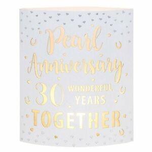 Pearl Anniversary Gifts - Starlight LED Lantern