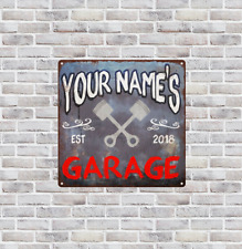 Your name Custom Garage Date Year EST Rust Man Cave Shop  12x12 Metal Sign SS181
