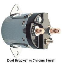 Starter Solenoid Chrome, Dual Bracket; Fit BigTwin 5-Speed 80-88 Harley Custom