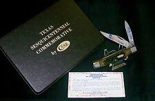 Case XX G6292 Knife 1986 Green Bone Texas Jack 150th Ann. W/Presentation Case
