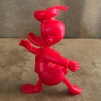 "MARX Vintage 1971 Louis Disney Red Donald Duck 6"" Plastic Figure figurine"