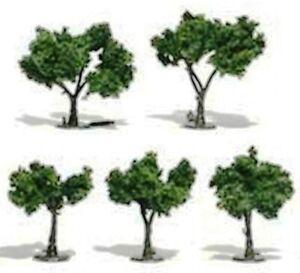 "Multi Scale - MEDIUM GREEN Trees - Package of  5 - 1-1/4""-2"" - WOO-TR1502"