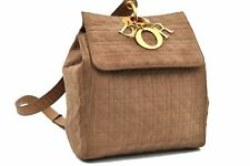 Authentic Christian Dior Cannage Backpack Beige CD A4507