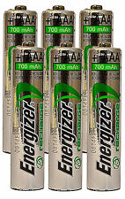 *NEW* 6x Energizer Rechargeable AAA 700 mAh NH12 NiMH 1.2V Battery  [USA SELLER]