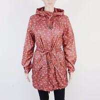 New Look Womens Size 10 Lightweight Showerproof Nylon Red Coat Jacket