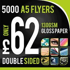 5000 A5 Full Colour 130gm Gloss Flyers/Leaflets ~ Double Sided