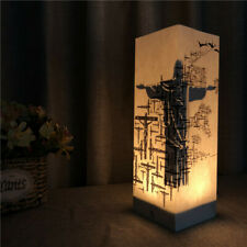 Jesus Cross Warm White Paper Shadow USB LED Night Light Lamp Room Home Gift