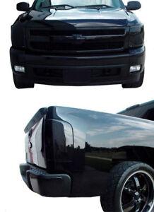 Fits 07-13 Silverado 1500 GTS Acrylic Smoke Headlight Taillight Covers 4pc Set