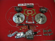 "GM Fullsize 1959-64 8"" Chrome Power Disc Brake Conversion Kit with Lines"