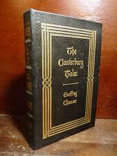 Chaucer : The Canterbury Tales - Easton Press 1978 Bella Legatura in Pelle e Oro
