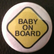 BUY 2 & GET 1 FREE - Baby on Board 1'' Pin Button Badge -Car Sign Style Pregnant