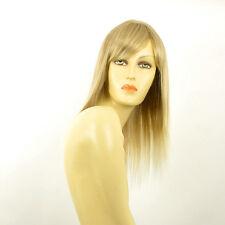Perruque femme mi-longue blond méché blond très clair VERA 15t613