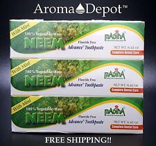 6 PK MADINA NEEM Natural Advance Mint Toothpaste Fluoride-Free Vegan/Vegetarian