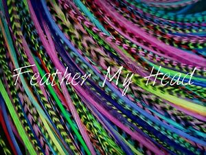 100 Pc Loose Discounted Feathers - Bright Colors - 7 to 11 In (18 to 28 cm Long