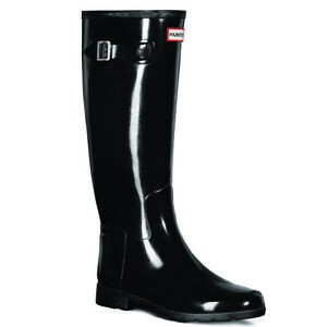 Ladies Hunter Original Refined Tall Gloss Waterproof Wellingtons Boots All Sizes