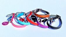 CAT KITTEN COLLAR REAL LEATHER  with or without ENGRAVED ID TAG