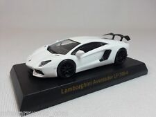 1:64 Kyosho Lamborghini Aventador LP700-4 Dragon Wheels Wing Dealer Ed. White SE