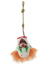 Halloween Scary Clown Severed Head Hanging Prop