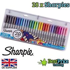 Sharpie 28 Pack Fine Permanent Markers Pens Limited Edition Set NEW *Work School