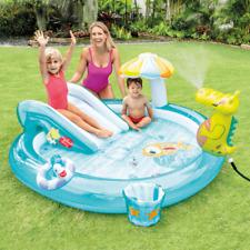 Piscina gonfiabile per bambini Intex Play Center Gator con scivolo