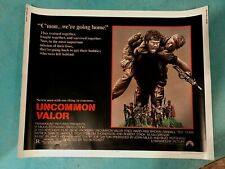 "UNCOMMON VALOR Gene Hackman Half Sheet Movie Poster 22"" X 28"""