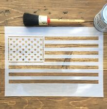 American Flag Stars & Strips Flag Stencil, A4 Reusable Furniture, walls, crafts