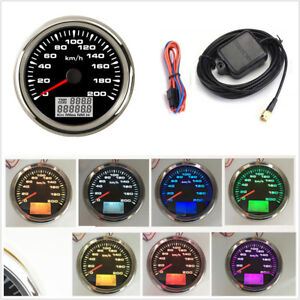 0-200km/h GPS Speedometer Gauges Tuning 85mm Car LCD Speed Odometers Waterproof