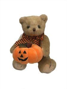 Bearington Collection Jake Jack O'Lantern Halloween Pumpkin Stuffed Bear Plush