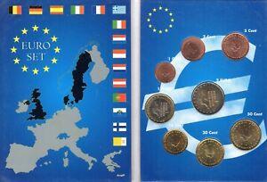 EURO  PAYS-BAS  SERIE COMPLETE 1C A  2 E NEUVE