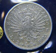 [NC] VITTORIO EMANUELE III -  2 LIRE 1905 AQUILA ARALDICA PERIZIA qBB (nc3692)