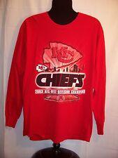 NFL Kansas City Chiefs mens graphic t shirt L AFC West Champs 2003 long sleeve