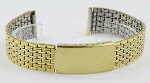Uhrenarmband Edelstahl PVD Gold feine Qualität 18 mm neu