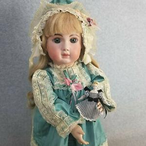 "23"" artist Lynda Marx antique reproduction bisque head French Steiner Doll 1981"