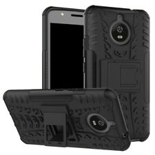 Custodia ibrida 2 pezzi all'aperto nero per Motorola Moto E4 PLUS COPERTURA