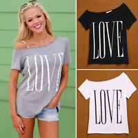 10 Colors Summer Womens Loose Short Sleeve Cotton Casual T-shirt Blouse Tops 41