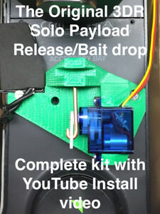 3DR Solo payload release, bait drop, DRONE FISHING, 3d robotics, ON SALE! Green