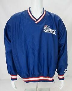 VTG Starter NFL Drew Bledsoe #11 New England Patriots Pullover Blue Men's Large