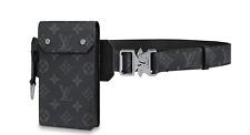 Louis Vuitton Mens Utility Belt 35mm Black Monogram Eclipse