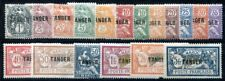MAROC 1918 Yvert 80-97 * ungebraucht SATZ AUFDRUCK TANGER 263€(F0894