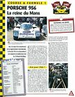 Porsche 956 Formule 1 GERMANY DEUTSCHLAND ALLEMAGNE Car Auto FICHE FRANCE