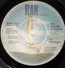 "Hot Chocolate - No Doubt About It 1980s Soul 7"" Vinyl Record RAK 310 45 RPM"