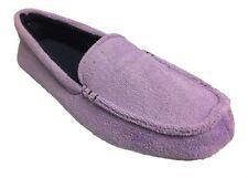 Dearfoams Women's Microfiber Terry Moccasin Slippers, Purple, XL / 11-12 M