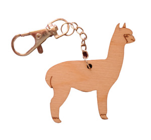 Alpaca Wooden Keyring - Pack of 5 Goodie bags/ Gifts/ Collectables UK
