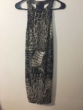 Dress Sz Small Black & Beige Women Clothes Sexy Dress Length 37 In