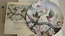 Bradford Exchange -Melody at Daybreak- Collectors Plate by Lena Liu - 1990 -
